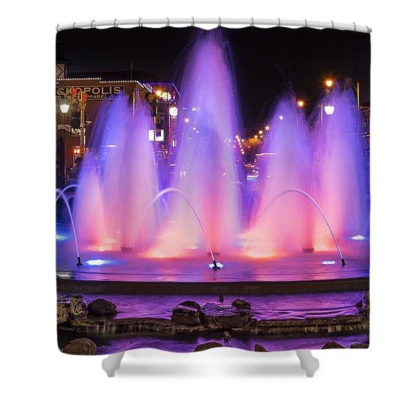 Bricktown Fountain Shower Curtain