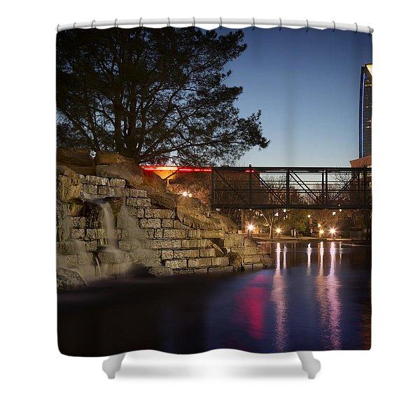 Bricktown Waterfall Shower Curtain
