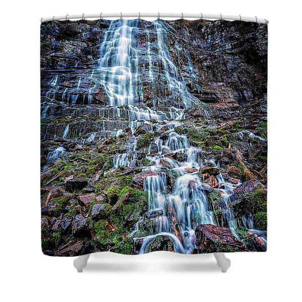 Bridal Veil Falls Utah Shower Curtain