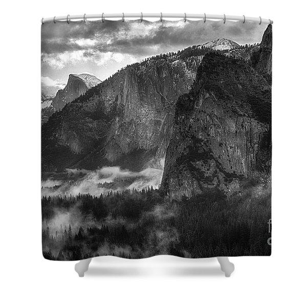 Bridalvail Falls And Half Dome Shower Curtain