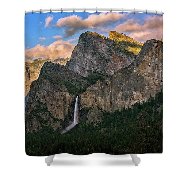 Bridalveil Falls From Tunnel View Shower Curtain