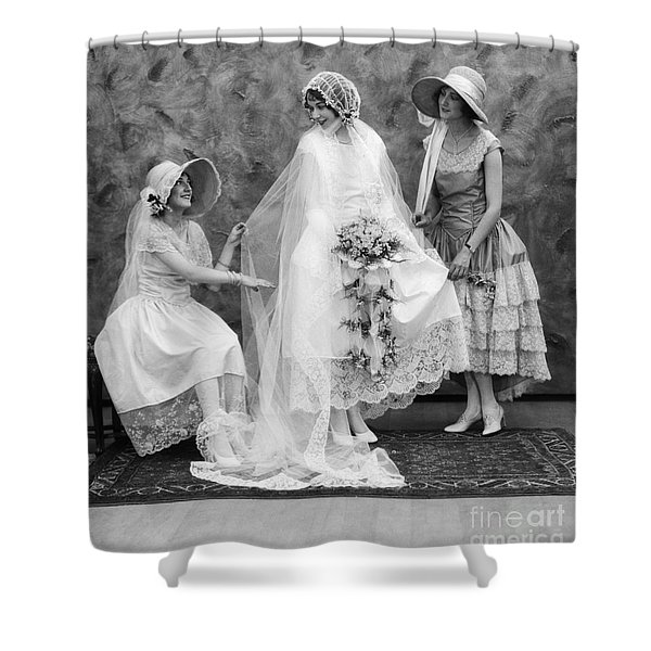 Bride And Bridesmaids, C.1900-10s Shower Curtain
