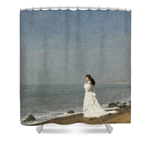 Bride By The Sea Shower Curtain