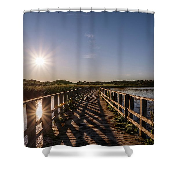 Bridge Across Shining Waters Shower Curtain