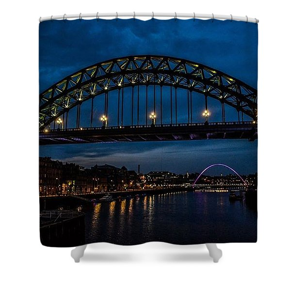 Bridge At Dusk Shower Curtain
