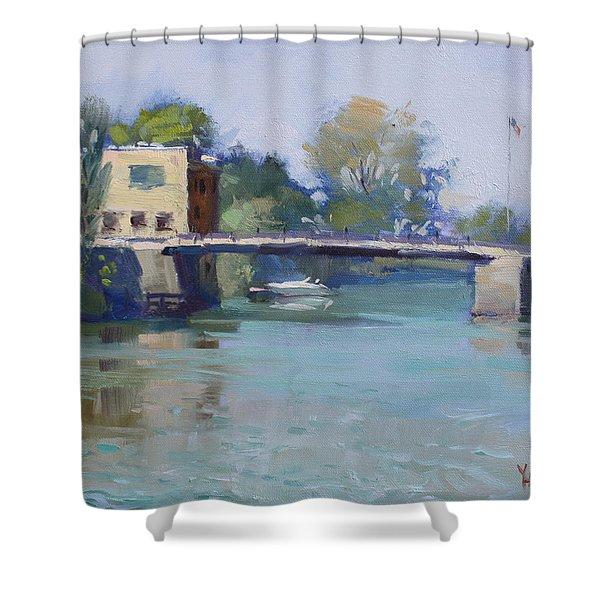 Bridge At Tonawanda Canal Shower Curtain