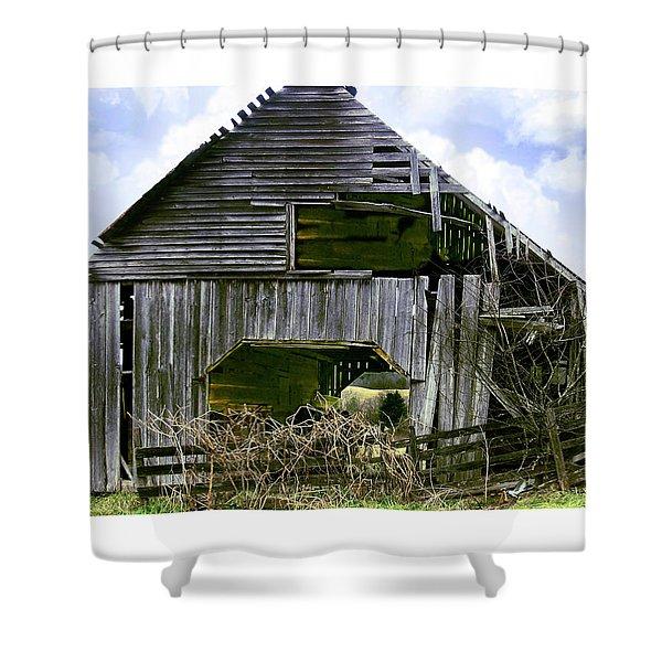 Bridge Creek Barn Shower Curtain