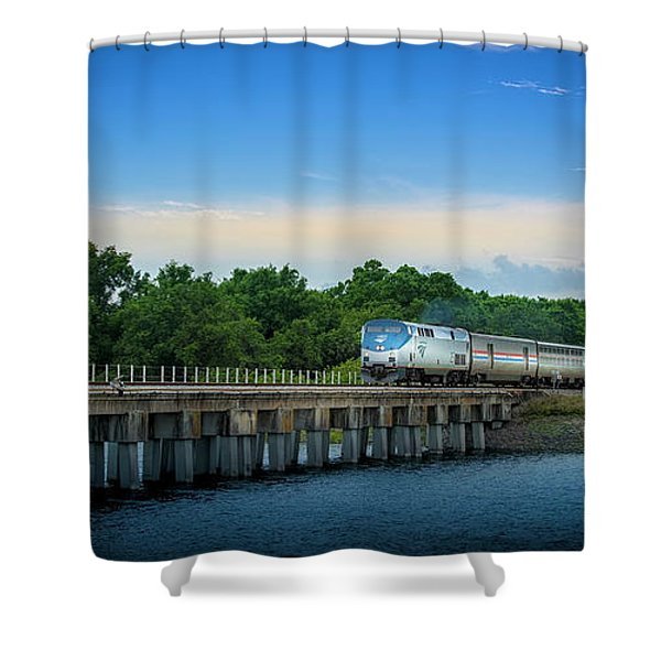 Bridge Crossing Shower Curtain