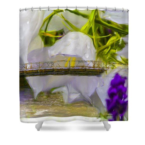 Bridge Flower.  Shower Curtain