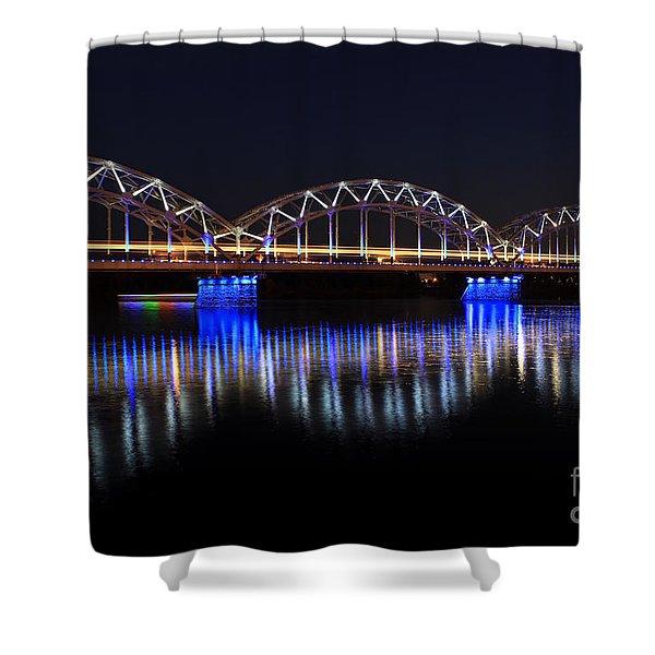 Bridge In Riga  Shower Curtain
