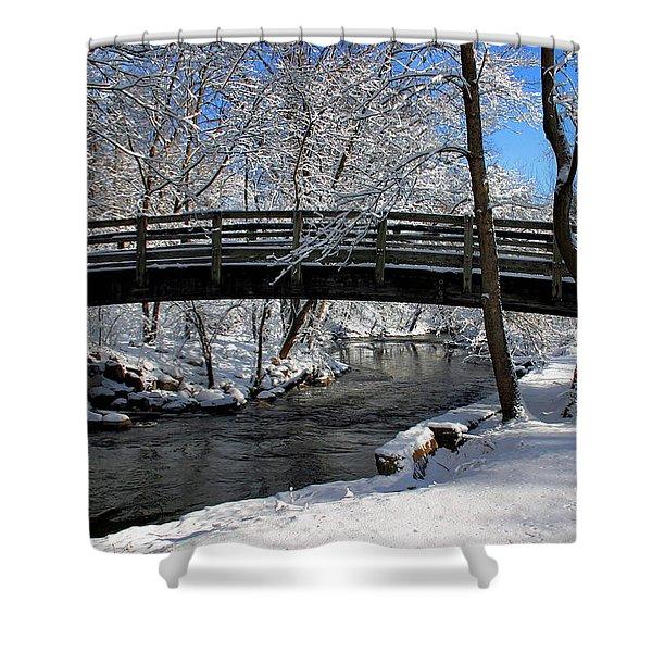 Bridge In Winter Shower Curtain