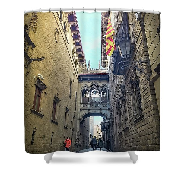 Bridge Of Sighs - Barcelona Shower Curtain
