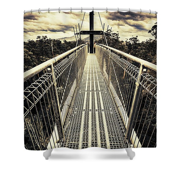 Bridge Of Suspension  Shower Curtain