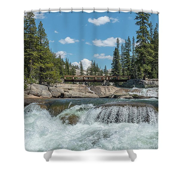 Bridge On The Pct Shower Curtain