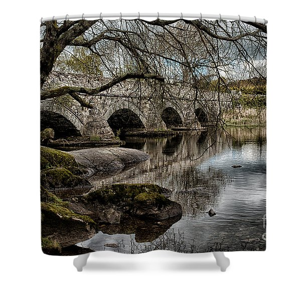Bridge Over Llyn Padarn Shower Curtain