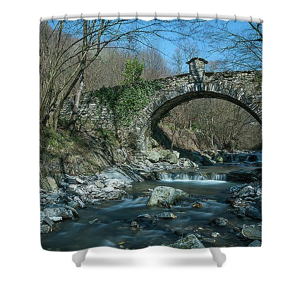 Bridge Over Peaceful Waters - Il Ponte Sul Ciae' Shower Curtain