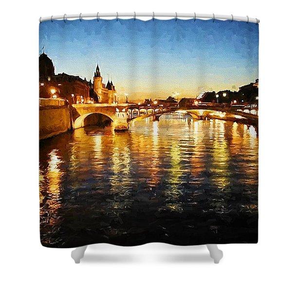 Bridge Over The Seine Shower Curtain