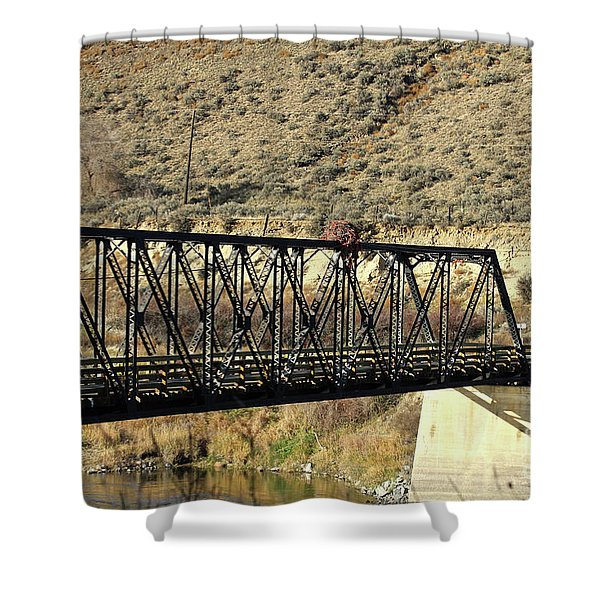 Bridge Over The Thompson Shower Curtain