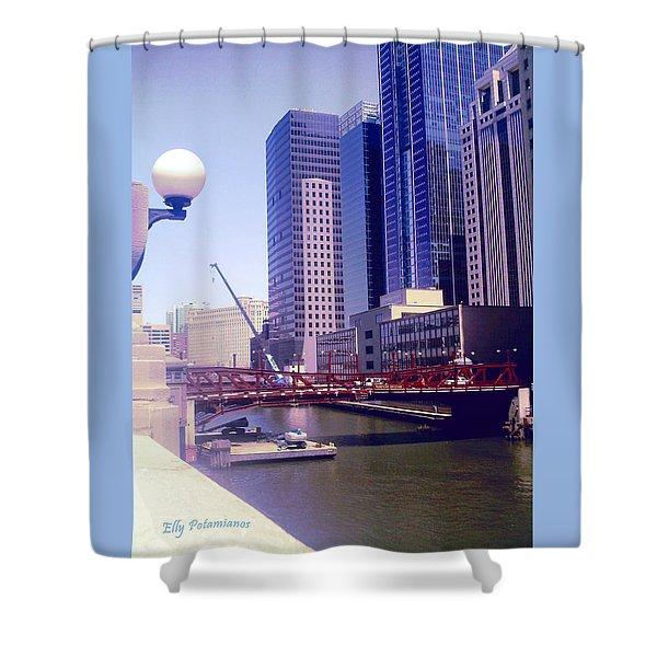 Bridge Overview Shower Curtain