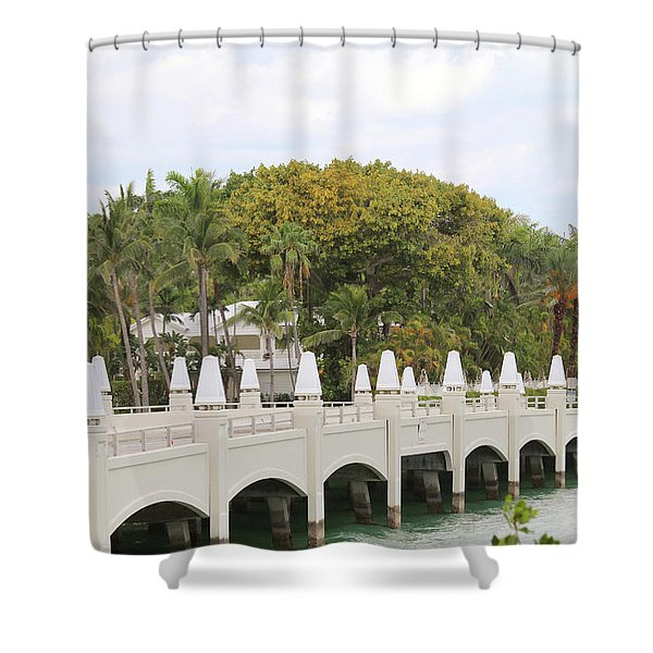 Bridge Road To Star Island Shower Curtain