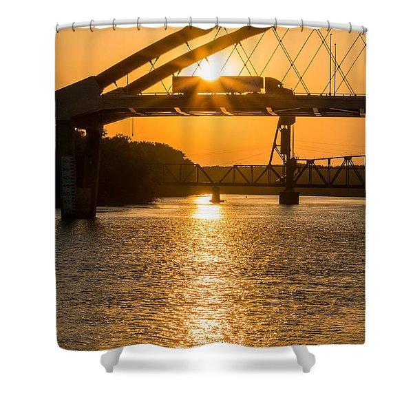 Bridge Sunrise #2 Shower Curtain