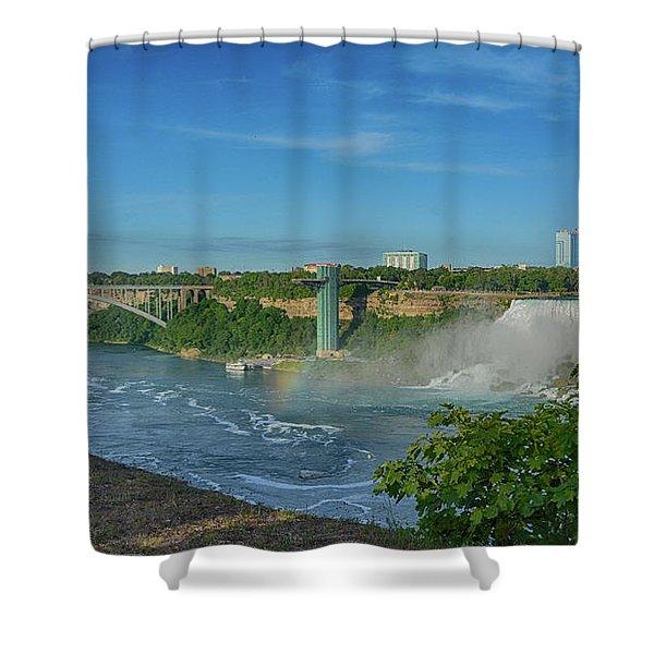 Bridge To America Shower Curtain