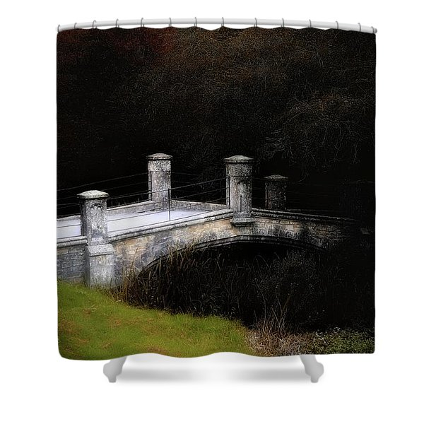 Bridge To Darkness Shower Curtain