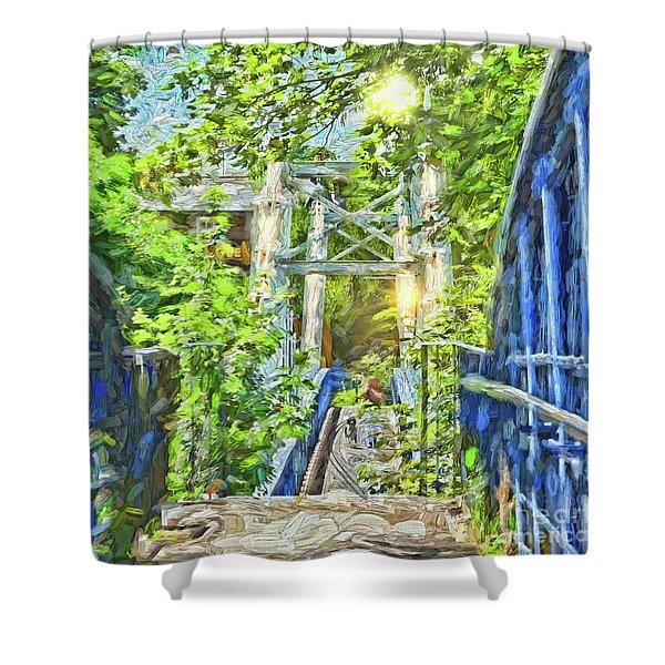 Bridge To Your Dreams Shower Curtain