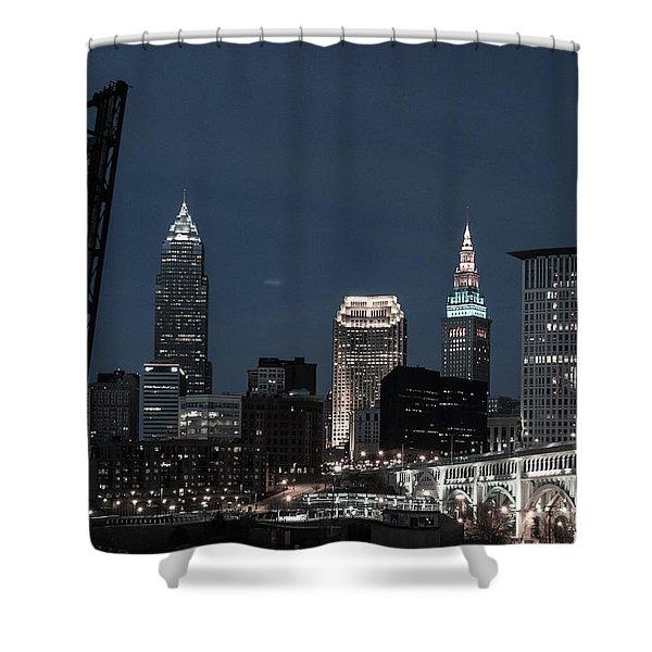 Bridges And Buildings Shower Curtain