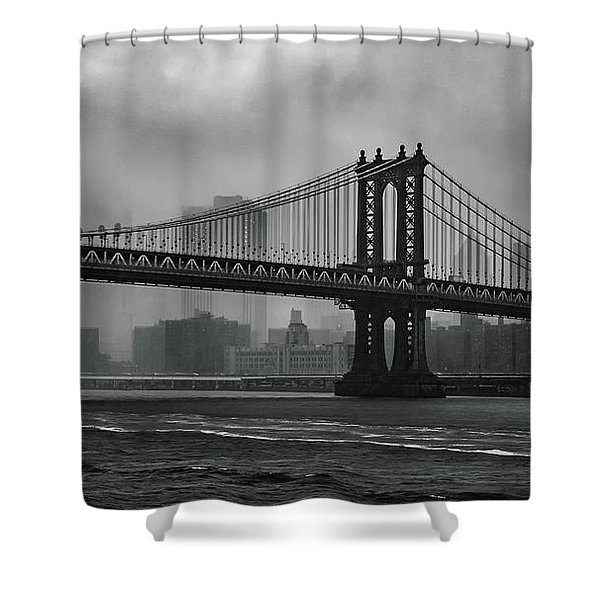 Bridges In The Storm Shower Curtain