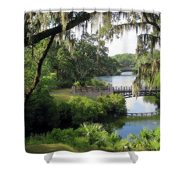 Bridges Over Tranquil Waters Shower Curtain