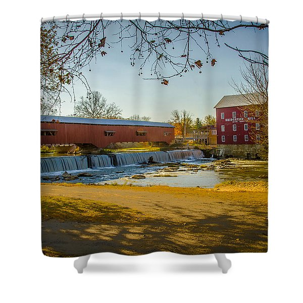 Bridgeton Mill Covered Bridge Shower Curtain