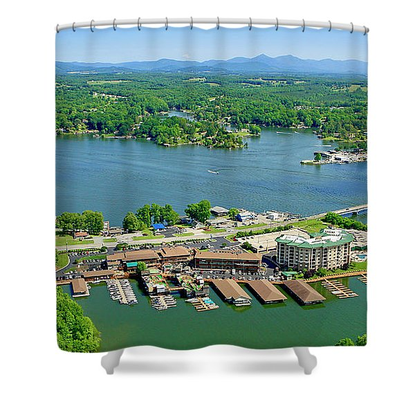 Bridgewater Plaza, Smith Mountain Lake, Virginia Shower Curtain