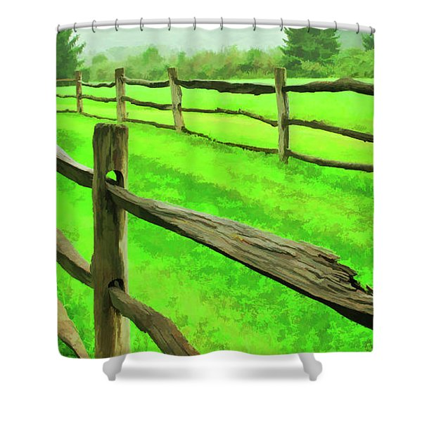 Bridle Trail Shower Curtain