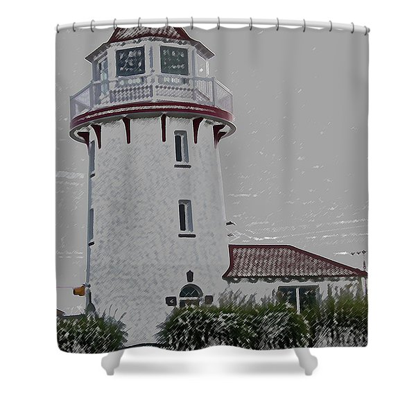 Brigantine Lighthouse Shower Curtain
