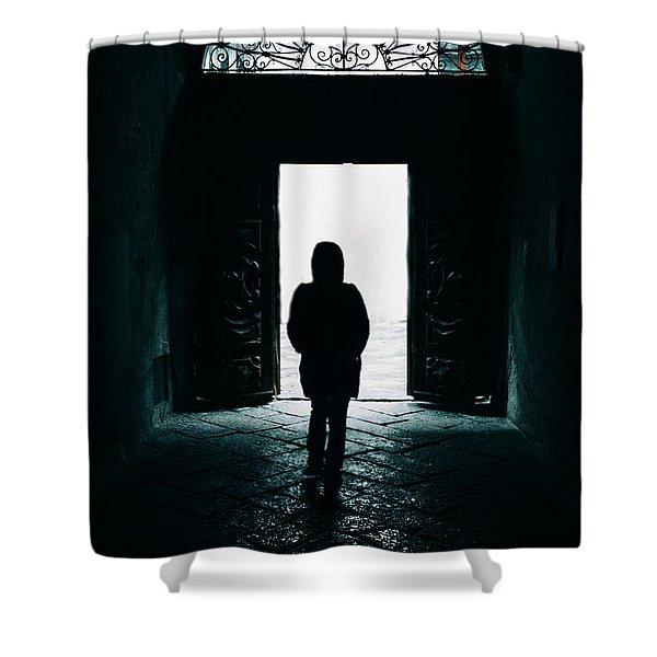 Bright Ancient Doorway Shower Curtain