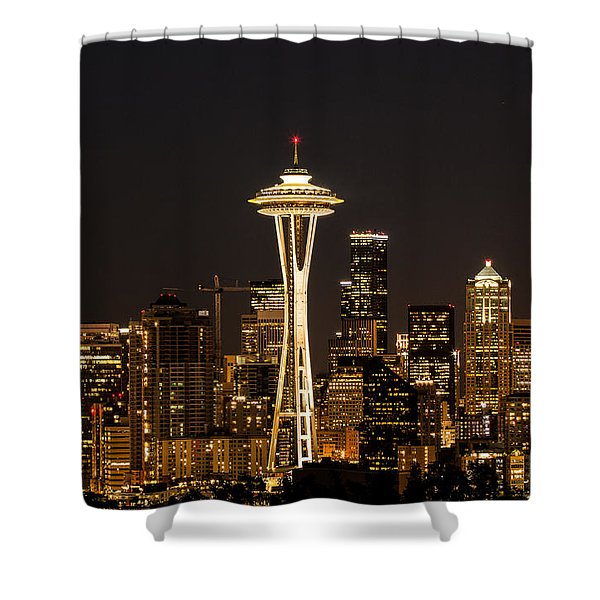 Bright At Night.1 Shower Curtain