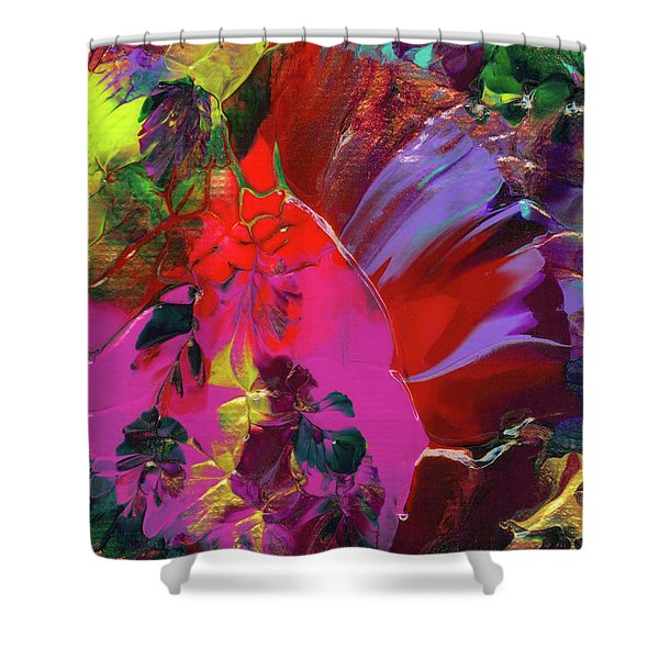 Bright Flaming Sun Flares Shower Curtain