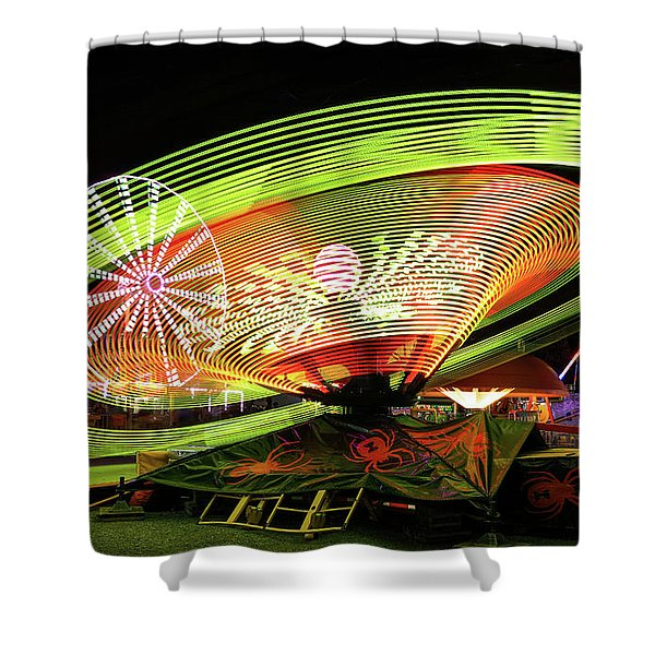 Bright Lights At The Fair Shower Curtain