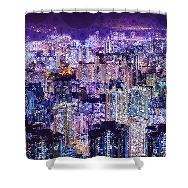 Bright Lights, Big City Shower Curtain