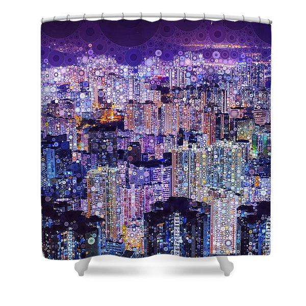Bright Lights, Big City Shower Curtain