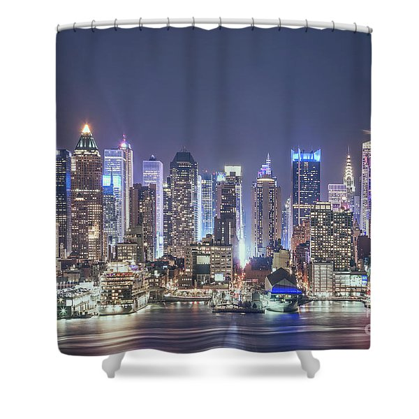 Bright Nights Shower Curtain