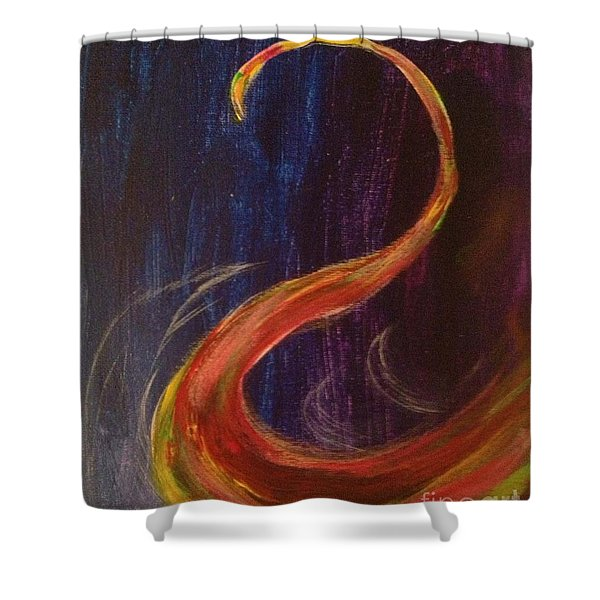 Bright Swan Shower Curtain