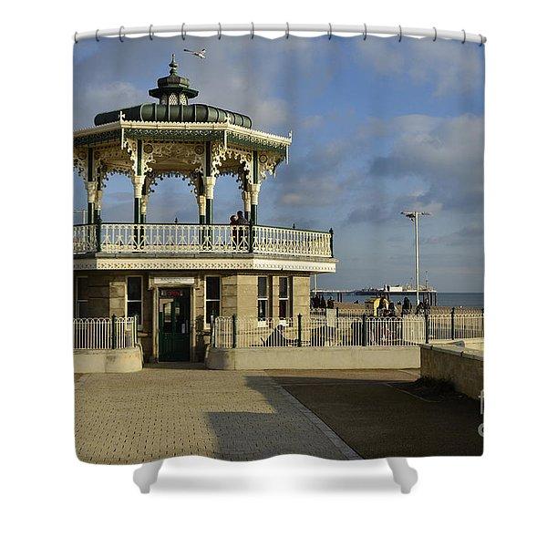Brighton Bandstand Shower Curtain