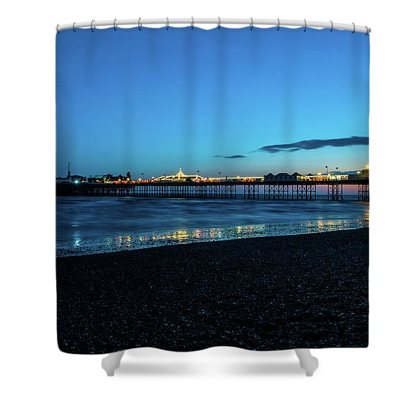 Brighton Pier At Sunset Ix Shower Curtain