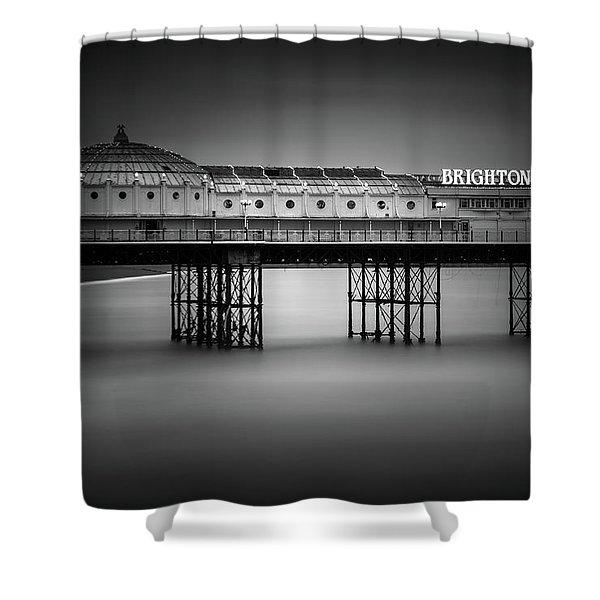 Brighton Pier, England Shower Curtain
