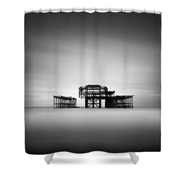 Brighton West Pier Shower Curtain
