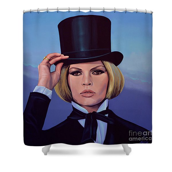 Brigitte Bardot Painting 2 Shower Curtain