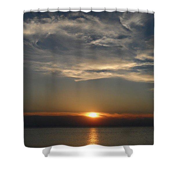 Brilliant Blue Sky Shower Curtain