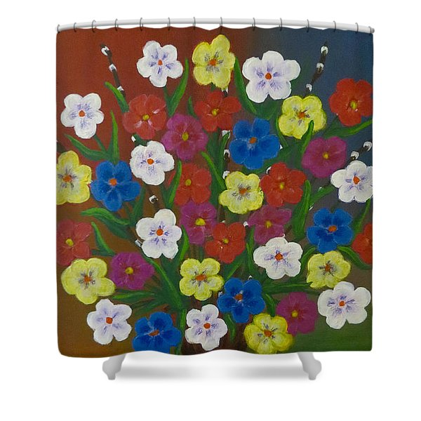 Brilliant Bouquet Shower Curtain